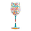 Monday Motivation Wine Glass, 15 oz, Multicolor