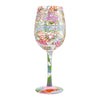 Wine Wednesday Wine Glass, 15 oz, Multicolor