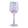 Thirsty Thursday Wine Glass, 15 oz, Multicolor