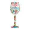 Feel Good Friday Wine Glass, 15 oz, Multicolor