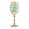Sunday Funday Wine Glass, 15 oz, Multicolor