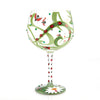 """Ladybug"" Hand-Painted Artisan Copa Wine Glass, 24 oz."