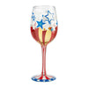 Land of the Free Hand-Painted Artisan Wine Glass, 15 oz.