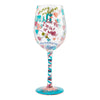 Nurse This Hand-Painted Artisan Wine Glass, 15 oz.