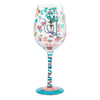 """Nurse This"" Hand-Painted Artisan Wine Glass, 15 oz."