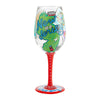 """Jersey Girl"" Hand-Painted Artisan Wine Glass, 15 oz."