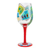 Jersey Girl Hand-Painted Artisan Wine Glass, 15 oz.