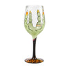 Drink Up Witches Hand-Painted Artisan Wine Glass, 15 oz.