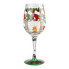 """12 Days of Wine"" Hand-Painted Artisan Wine Glass, 15 oz."