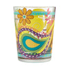 """Paisley Swirl"" Hand-Painted Artisan Rocks Glass, 14 oz."