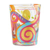 """Sunshine Bounce"" Hand-Painted Artisan Rocks Glass, 14 oz."