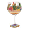 Desert Hand-Painted Terrarium Cocktail Glass, 24 oz.