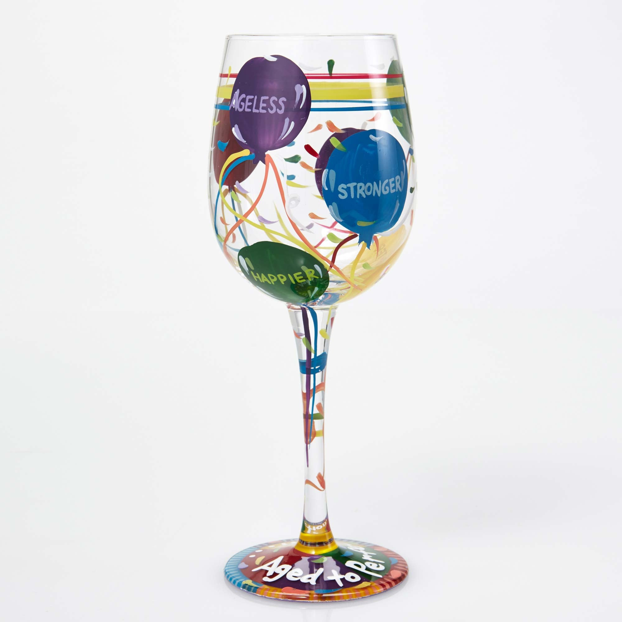 1c8cb94962b Lolita Aged to Perfection Birthday Artisan Painted Wine Glass - Designs by  Lolita