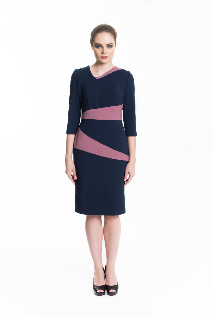 Colourblocked Midi Dress