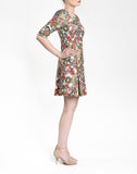 RETRO PINWHEEL JACQUARD A-LINE DRESS
