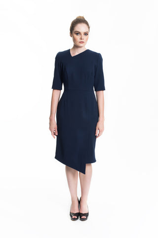 NAUTICAL JAQUARD A-LINE DRESS