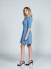 A-Line Periwinkle Blue Faille Dress