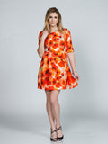 Poppy Silk Stretch A-Line Dress