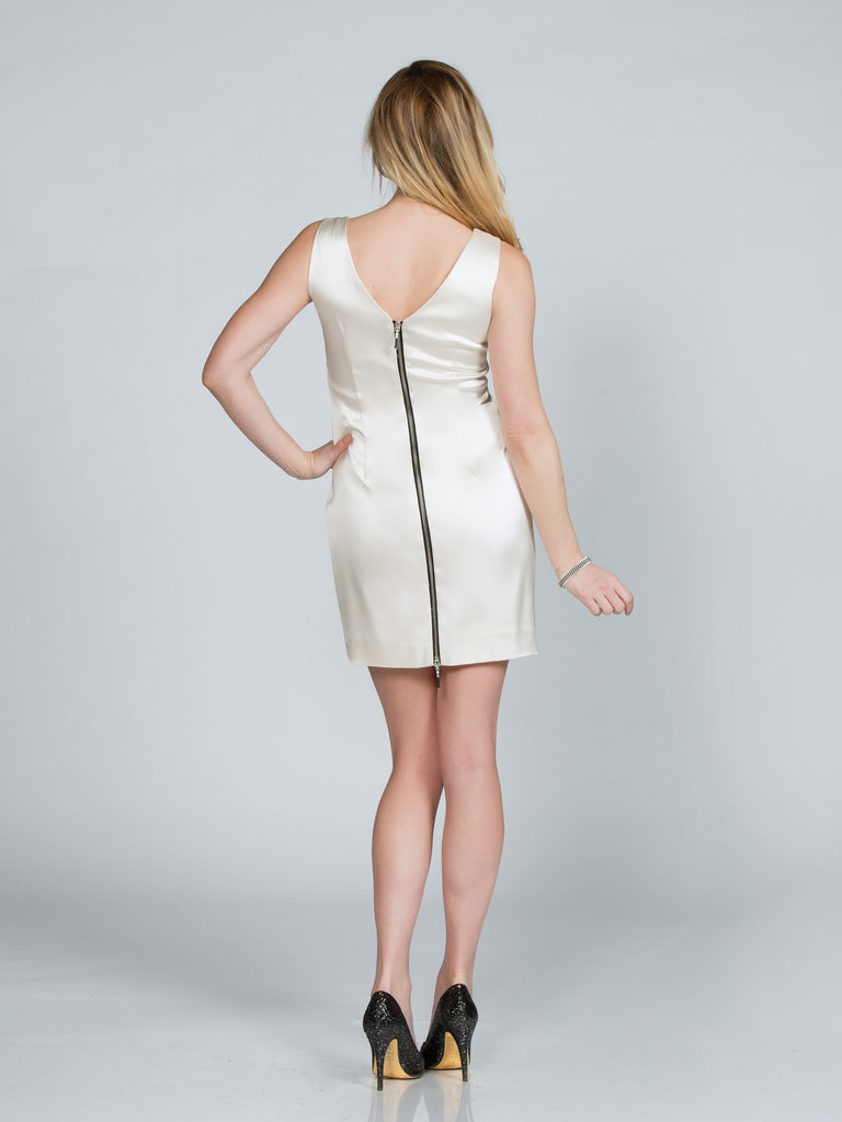 SATIN TANK DRESS - CREAM