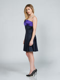 COLORBLOCK SATIN DRESS