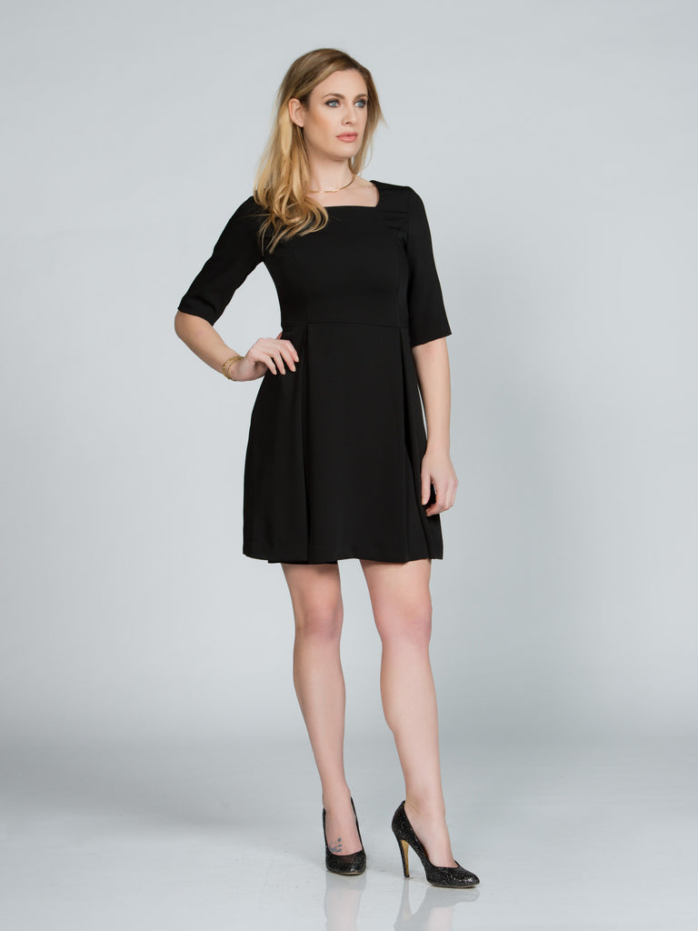 A-Line Black Faille Dress