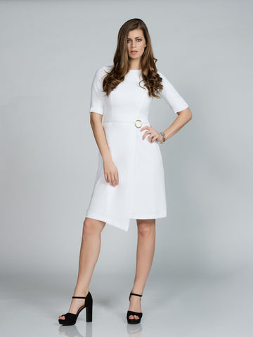 POPPY SILK STRETCH MIDI