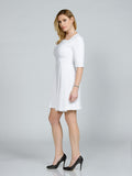 A-Line White Faille Dress