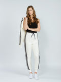 Track pants striped white