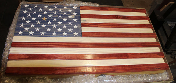 Red White and Blue Stained Flag Case