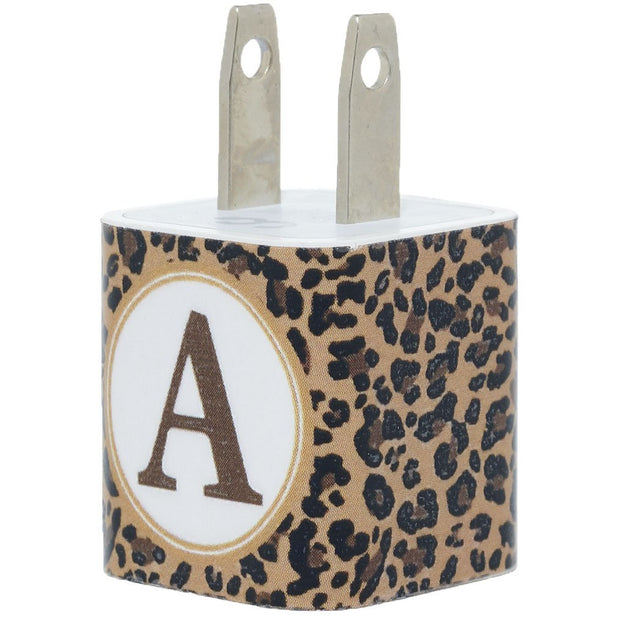 Leopard Single Letter Phone Charger - Classy Chargers