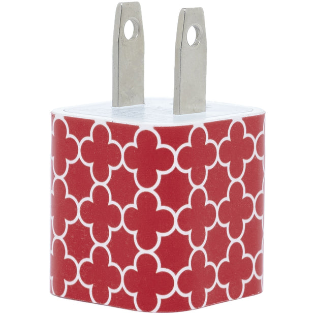 Red Trellis Phone Charger - Classy Chargers