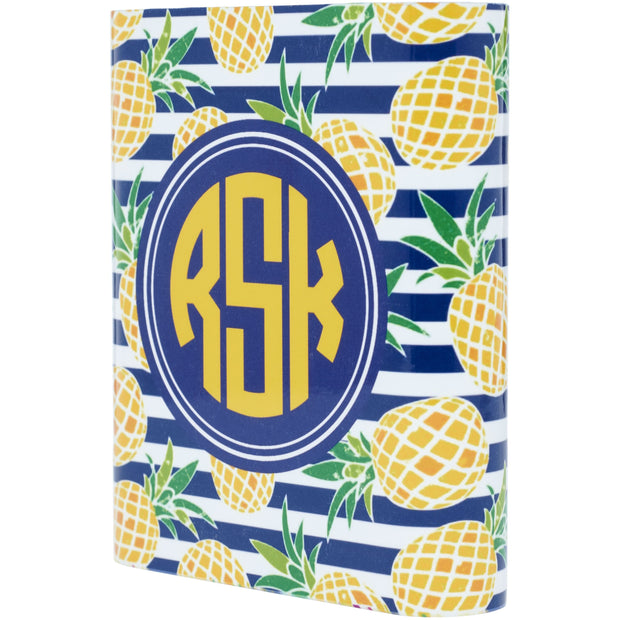 Monogram Pineapple Power Bank - Classy Chargers