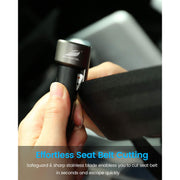 Mini 3-in-1 Car Safety Device w/Emergency Window Glass Breaker Tool - Seat Belt Cutter - Dual USB Car Charger (1)