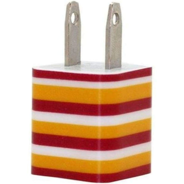 Crimson Gold Stripe Phone Charger - Classy Chargers