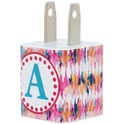 Watercolor iKat Single Letter Phone Charger - Classy Chargers