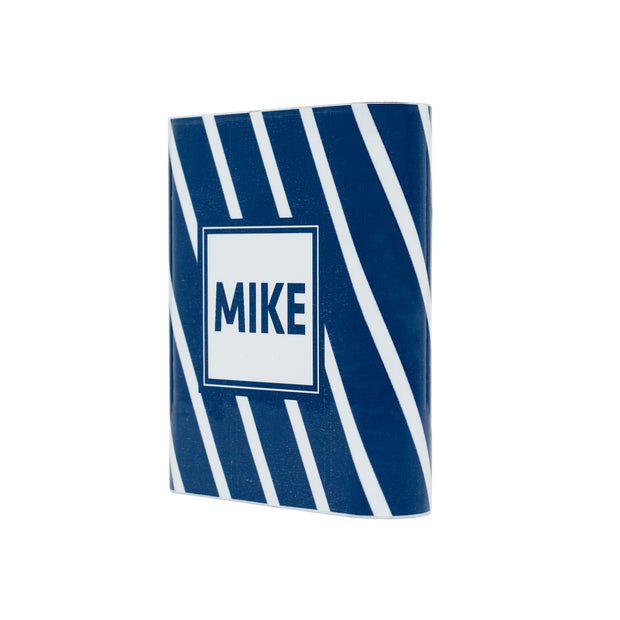 Monogram Navy Slanted Stripe Power Bank - Classy Chargers