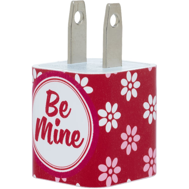 Monogram Valentine Flower Phone Charger - Classy Chargers