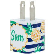 Monogram Pineapple Phone Charger - Classy Chargers