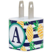 Pineapple Single Letter Phone Charger - Classy Chargers