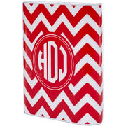 Monogram Red Chevron Power Bank - Classy Chargers