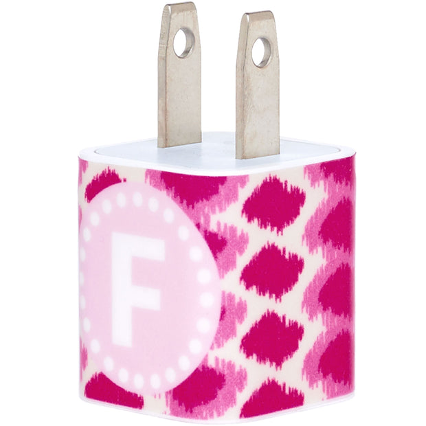 Single Initial Raspberry iKat Phone Charger - Classy Chargers