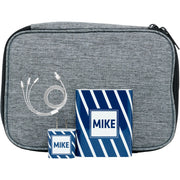 Navy Slanted Stripe Monogram Tech Kit