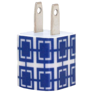 Navy Squares Phone Charger - Classy Chargers