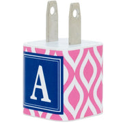 Pink Teardrop Single Letter Phone Charger - Classy Chargers
