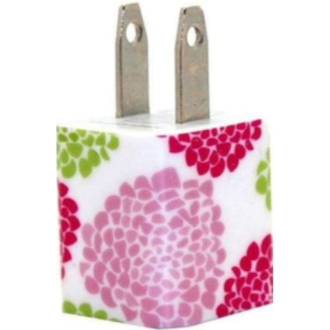 Pink Peony Phone Charger - Classy Chargers