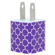 Purple Trellis Phone Charger - Classy Chargers