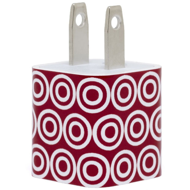 Red Bullseye Phone Charger - Classy Charger