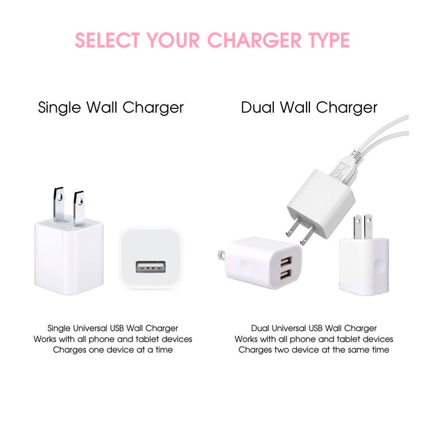 Select either a single or dual phone charger - Classy Chargers