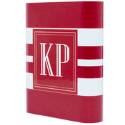 Monogram Red Wide Stripe Power Bank - Classy Chargers
