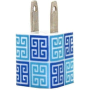 Shades of Blue Greek Key Phone Charger - Classy Chargers